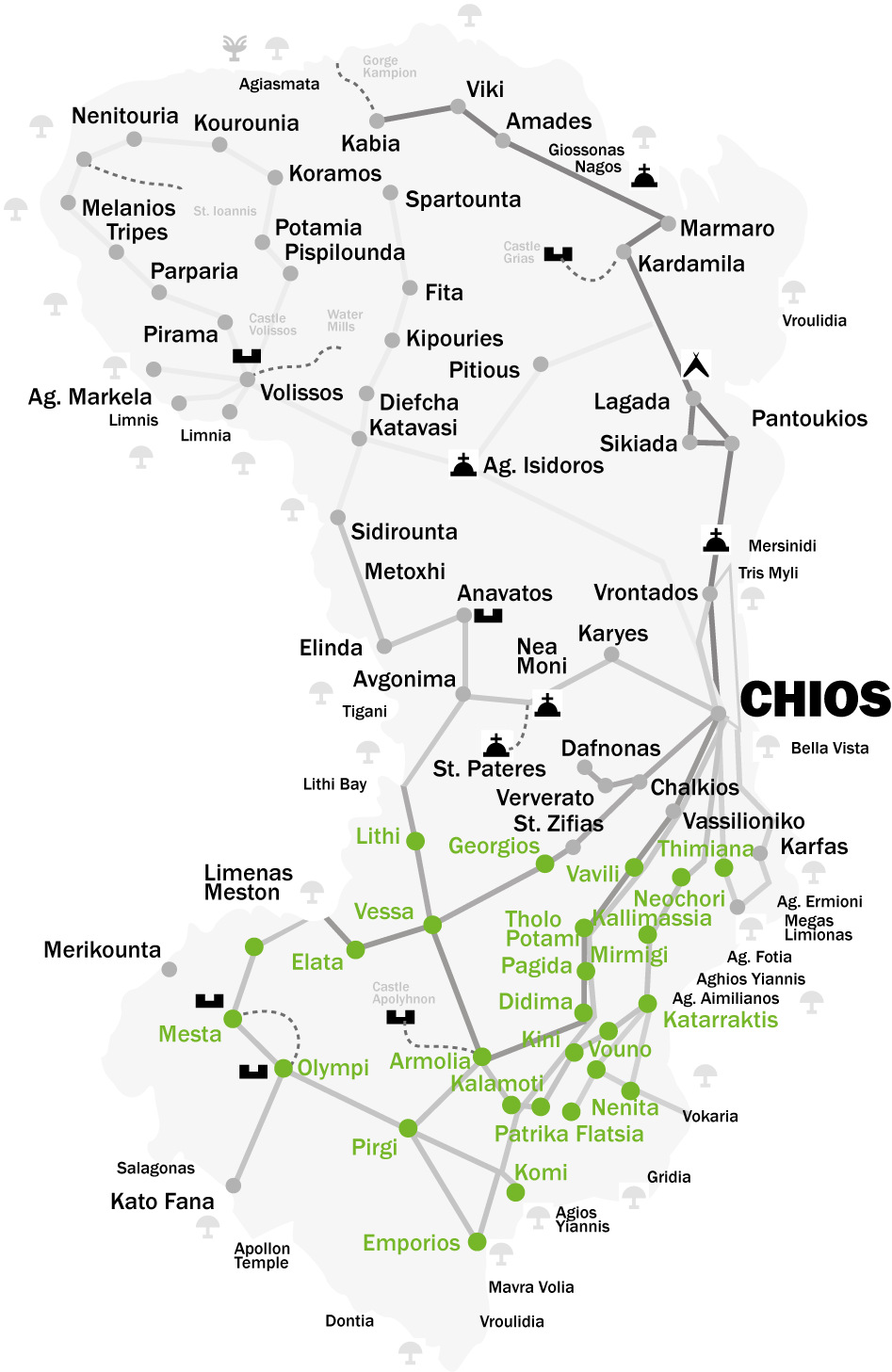 Chios - mapa
