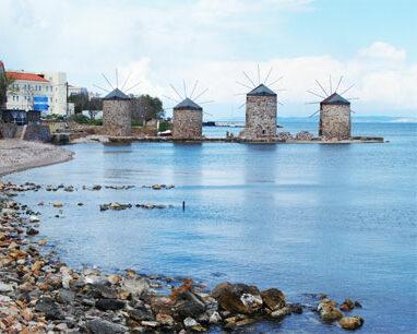 Chios mlýny domov mastichy