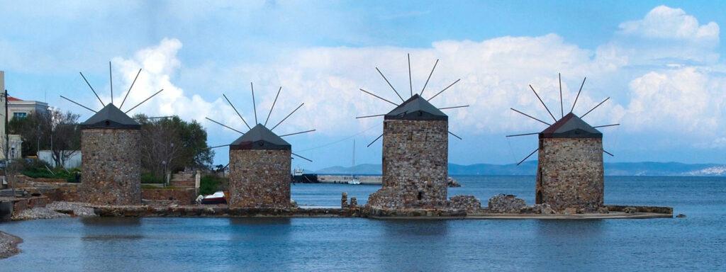 Chios, mlýny masticha domov