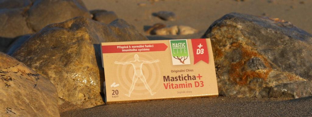 Vitamin D3 plus masticha